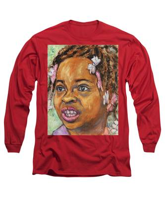 Girl With Dread Locks Long Sleeve T-Shirt