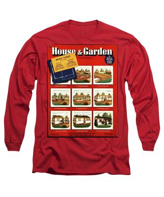 A House And Garden Cover Of Construction Stages Long Sleeve T-Shirt