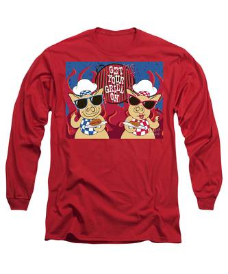 Barbecue Pigs Long Sleeve T-Shirt