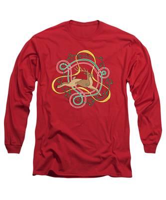 Celtic Reindeer Knots Long Sleeve T-Shirt