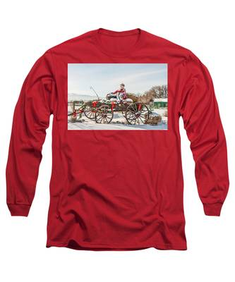 Cowboy Santa Taking A Quick Break Long Sleeve T-Shirt