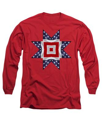 Patriotic Star 1 - Transparent Background Long Sleeve T-Shirt