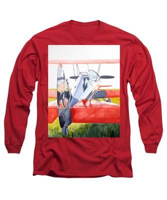 Reflection On Biplane Long Sleeve T-Shirt