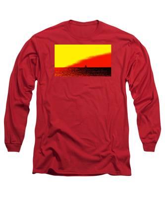 Sailboat Horizon Poster Long Sleeve T-Shirt