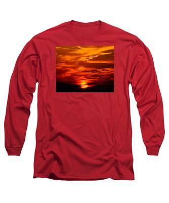 Sunrise Feathers Long Sleeve T-Shirt