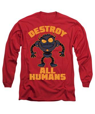 Destroyed Long Sleeve T-Shirts