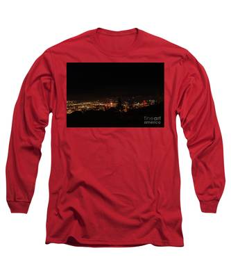 Headframes Outlined In Red Lights Long Sleeve T-Shirt