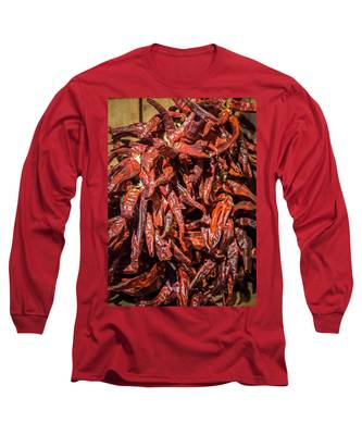 Hot Spicy Peppers Long Sleeve T-Shirt