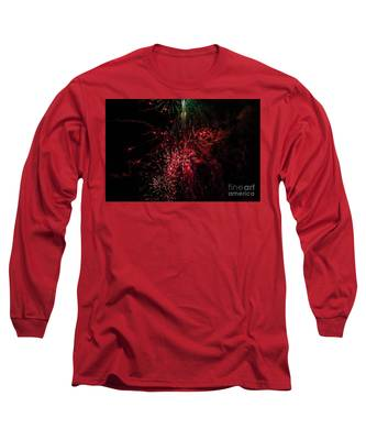 Mostly Red And White Fireworks Long Sleeve T-Shirt