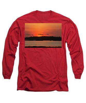 Sunrise Over Drunken Jack Island Long Sleeve T-Shirt