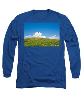Alpine Meadow And Cloud Formation Long Sleeve T-Shirt