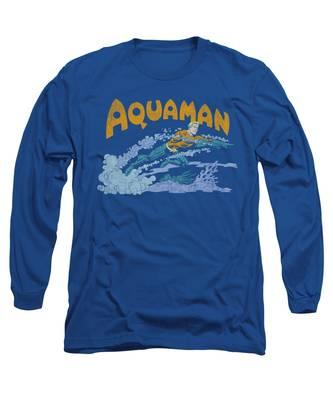Aqua Long Sleeve T-Shirts