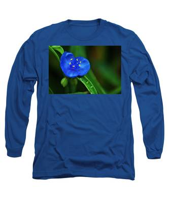 Yellow Blue And Raindrops Long Sleeve T-Shirt