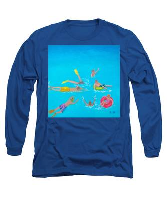 Beach Decor 'holiday Splash' By Jan Matson Long Sleeve T-Shirt