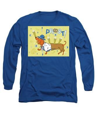 Beer Dachshund Dog Long Sleeve T-Shirt