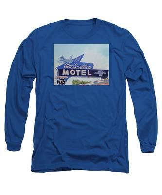 Blue Swallow Long Sleeve T-Shirt