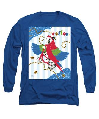 Coffee Parrot Long Sleeve T-Shirt