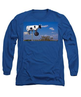 Long Sleeve T-Shirt featuring the photograph Cow Power by Skip Hunt