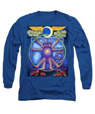 Da Vinci Cat Long Sleeve T-Shirt