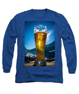 Edelweiss Beer In Kirchberg Austria Long Sleeve T-Shirt