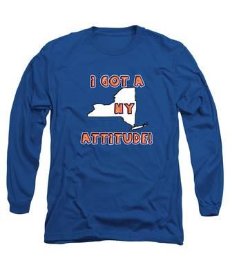 Ny Attitude-mets Colors Long Sleeve T-Shirt