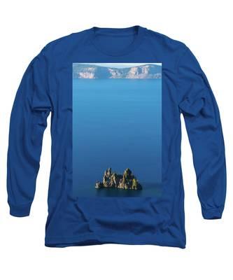 Phantom Ship Island Crater Lake National Park Oregon 2 Long Sleeve T-Shirt