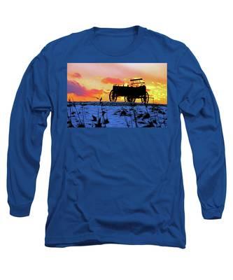 Wagon Hill At Sunset Long Sleeve T-Shirt