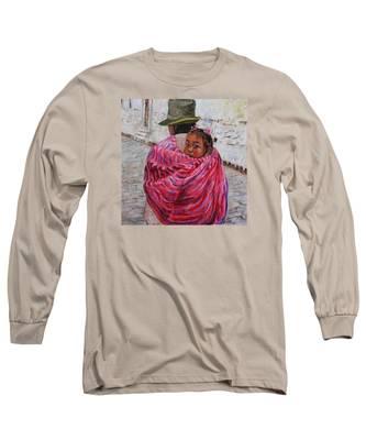 A Bundle Buggy Swaddle - Peru Impression IIi Long Sleeve T-Shirt
