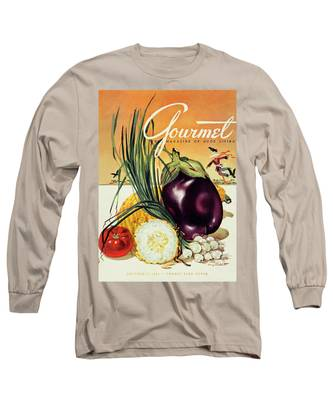 A Gourmet Cover Of Vegetables Long Sleeve T-Shirt