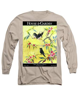 A House And Garden Cover Of Chickadees Long Sleeve T-Shirt