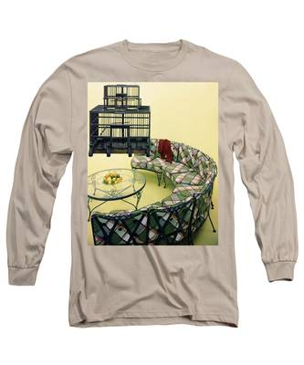 A Round Couch And A Birdcage Long Sleeve T-Shirt