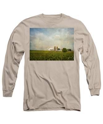Amish Farmland Long Sleeve T-Shirt