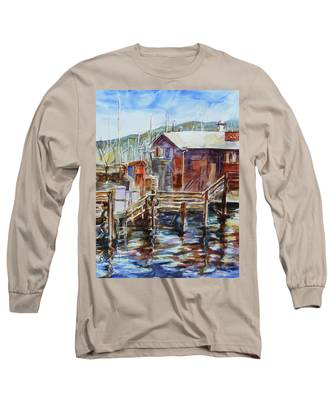 At Monterey Wharf Ca Long Sleeve T-Shirt