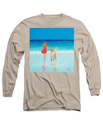 Beach Painting 'sunkissed Hair'  Long Sleeve T-Shirt