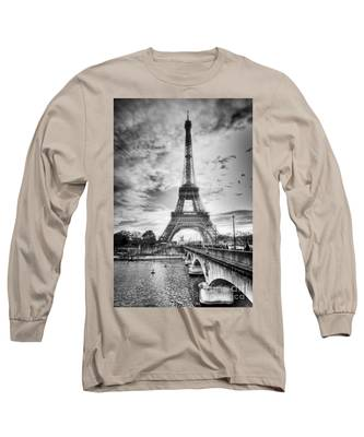Bridge To The Eiffel Tower Long Sleeve T-Shirt