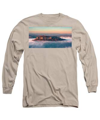 Fog Surrounding The Fortress Koenigstein Long Sleeve T-Shirt