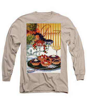 Gourmet Cover Of Fruit Tarts Long Sleeve T-Shirt