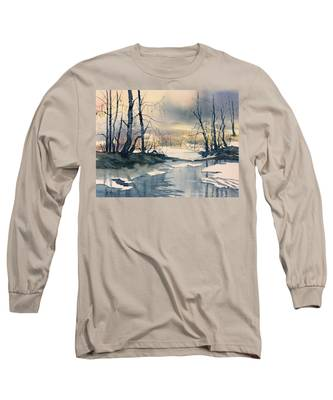 Melt Water On Skipwith Common Long Sleeve T-Shirt