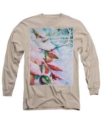Nandina In Snow Long Sleeve T-Shirt