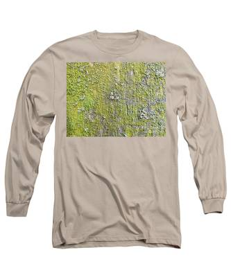 Natural Abstract 1 Old Fence With Moss Long Sleeve T-Shirt