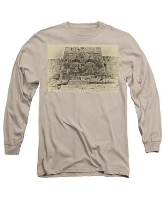 Outside The Eastern Gate Old City Jerusalem Long Sleeve T-Shirt