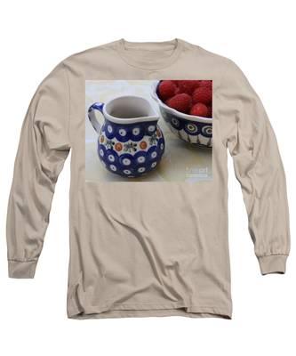 Raspberries With Cream Long Sleeve T-Shirt