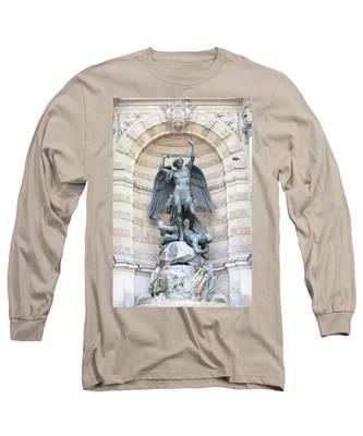 Saint Michael The Archangel In Paris Long Sleeve T-Shirt