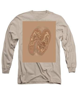 Satin Butterfly Long Sleeve T-Shirt