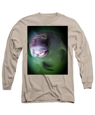 The Happy Manatee Long Sleeve T-Shirt