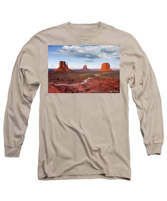 The Mittens And Merrick Butte At Sunset Long Sleeve T-Shirt