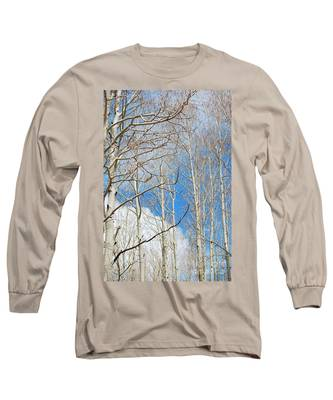 Cloudy Aspen Sky Long Sleeve T-Shirt