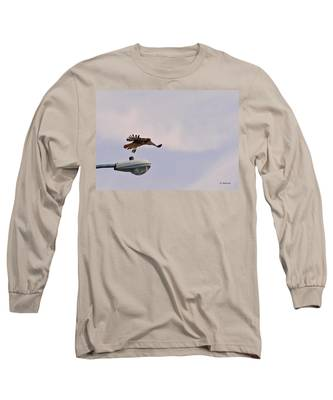 Red-tailed Hawk In Flight Long Sleeve T-Shirt