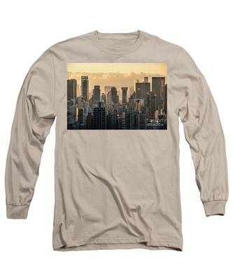 Hong Kong Sunset Long Sleeve T-Shirt by Didier Marti