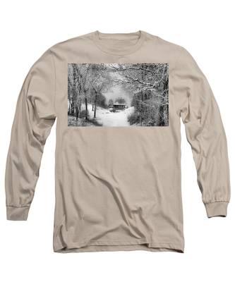 A Winter's Tale In Centerport New York Long Sleeve T-Shirt